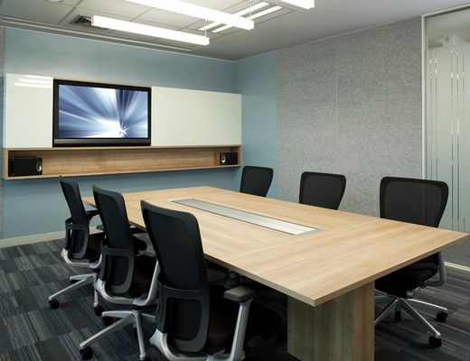 Front - Rectangular conference room table